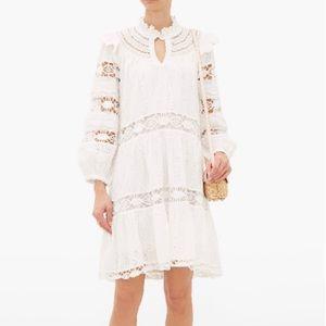 Sea New York Lea Lace Dress In Pure White
